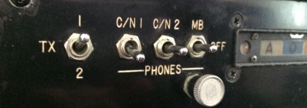 Correct audio panel switch positions.